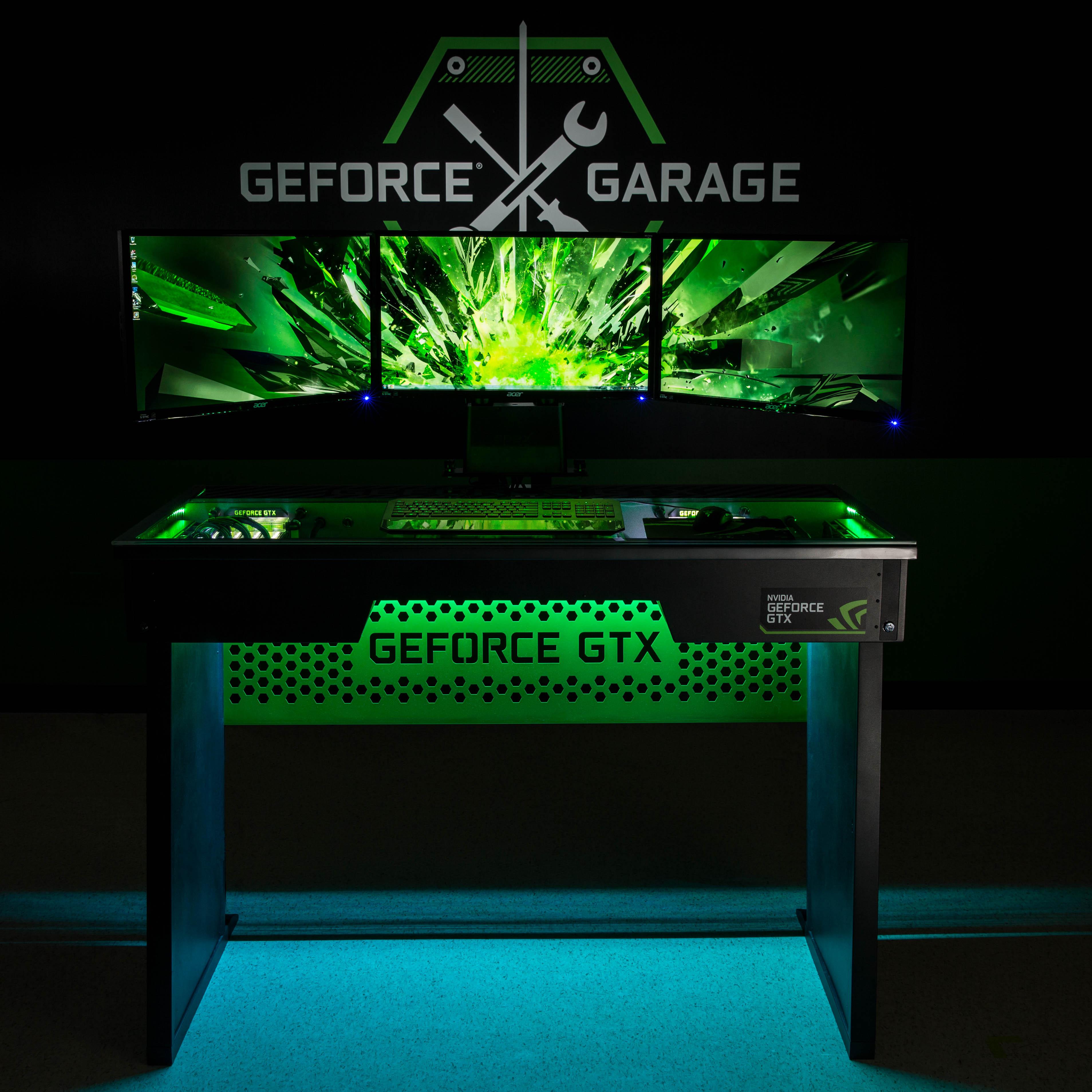 Rig spotlight the geforce garage red harbinger cross desk for Garage cros agde