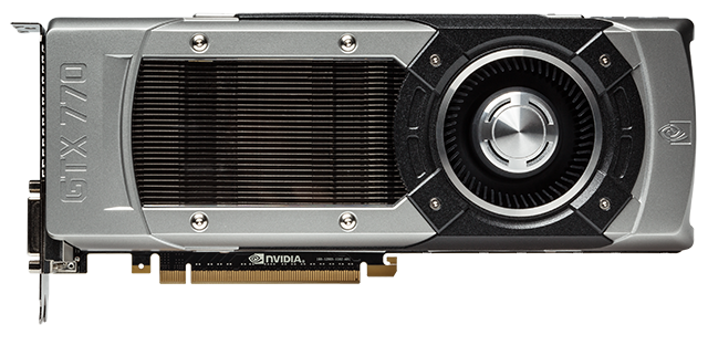 The GeForce GTX 770 has the same high-quality styling as the GeForce GTX TITAN.