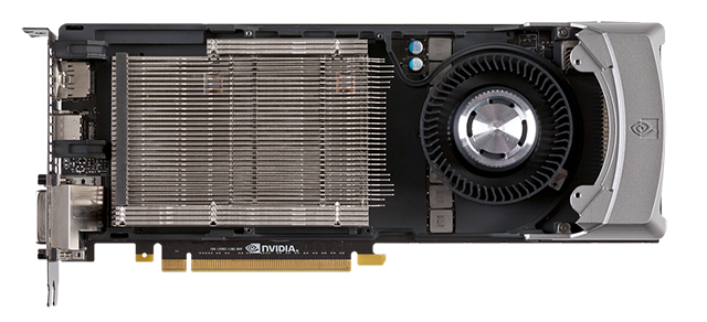 Fan, vapour chamber, and cooling system of the GeForce GTX 770.