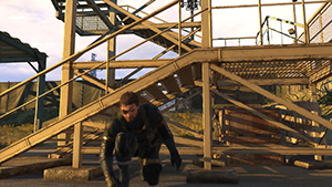 Metal Gear Solid V: Ground Zeroes - Screen Filtering: Post-Process Anti-Aliasing #1 - On