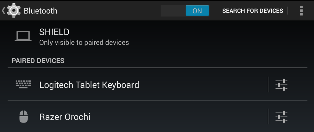 Connecting Bluetooth Keyboard & Mouse