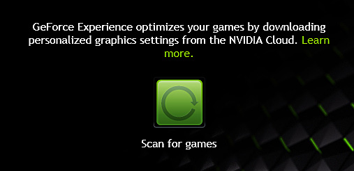 GeForce Experience Scan For Images