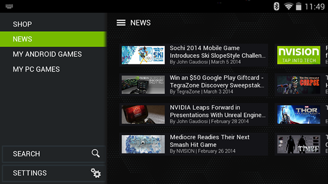 NVIDIA SHIELD TegraZone News