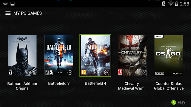NVIDIA SHIELD Supported Games