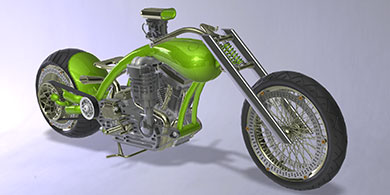 PTC CREO Bike Rendering