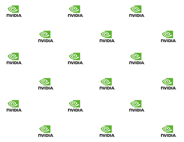 Tileable NVIDIA gift wrap - small logos