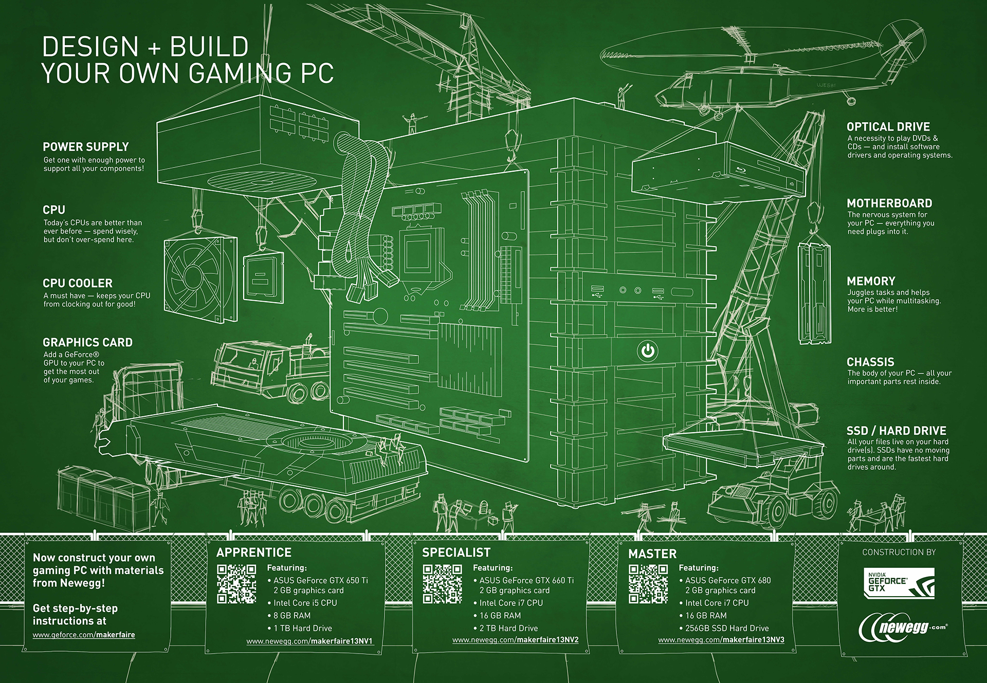 Design build your own gaming pc geforce for Blueprint builder free
