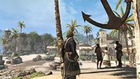 GeForce.com「刺客教條 4: 黑旗 (Assassin's Creed IV: Black Flag)」AA 關閉對照 SMAA 反鋸齒的互動比較圖。