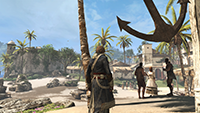GeForce.com「刺客教條 4: 黑旗 (Assassin's Creed IV: Black Flag)」2x MSAA 對照 FXAA 反鋸齒的互動比較圖。