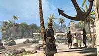 GeForce.com「刺客教條 4: 黑旗 (Assassin's Creed IV: Black Flag)」AA 關閉對照 FXAA 反鋸齒的互動比較圖。
