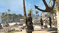 GeForce.com「刺客教條 4: 黑旗 (Assassin's Creed IV: Black Flag)」FXAA 對照 SMAA 反鋸齒的互動比較圖。