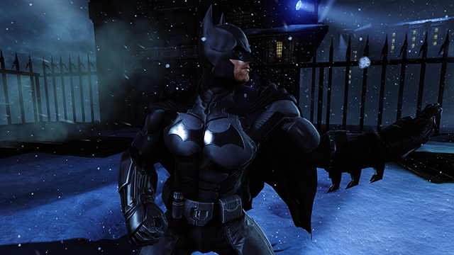 「蝙蝠俠: 阿卡漢始源 (Batman: Arkham Origins)」在 NVIDIA 進階版水平環境光遮蔽功能運作下的互動式比較。