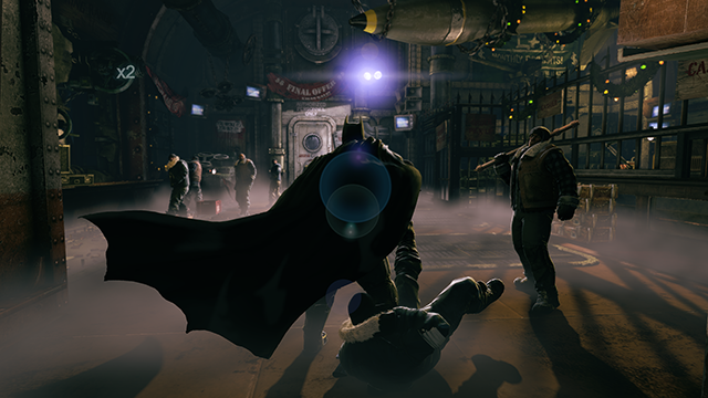 Batman: Arkham Origins Lens Flare Screenshot.