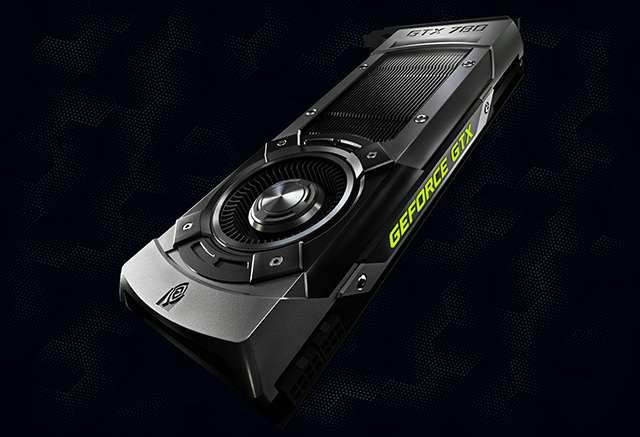 Side view of the new GK110-powered GeForce GTX 780
