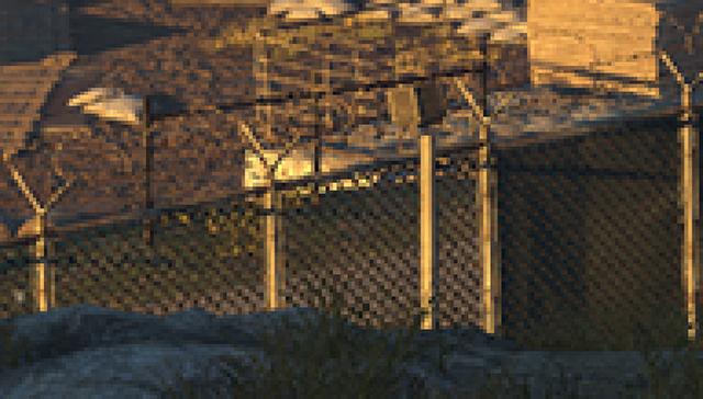 「潛龍諜影 5: 原爆點 (Metal Gear Solid V:  Ground Zeroes)」- NVIDIA 動態超解析度 - 取樣點效益比較圖 #2