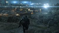 「潛龍諜影 5: 原爆點 (Metal Gear Solid V:  Ground Zeroes)」- 畫面空間環境光遮蔽範例 #1 - 超高