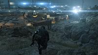 「潛龍諜影 5: 原爆點 (Metal Gear Solid V:  Ground Zeroes)」- 畫面空間環境光遮蔽範例 #1 - 關閉