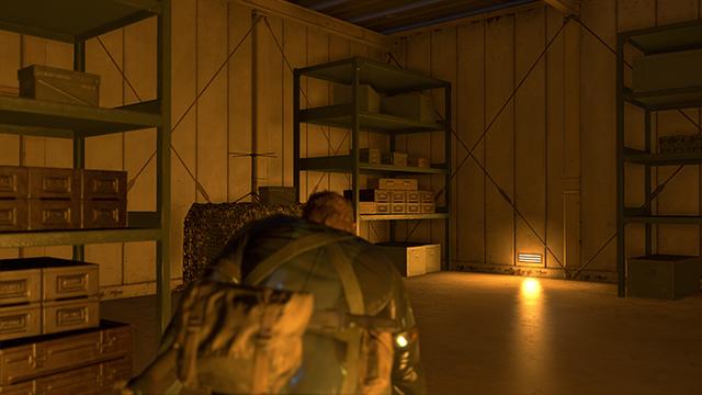「潛龍諜影 5: 原爆點 (Metal Gear Solid V:  Ground Zeroes)」- 畫面空間環境光遮蔽互動比較圖 #2