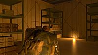「潛龍諜影 5: 原爆點 (Metal Gear Solid V:  Ground Zeroes)」- 畫面空間環境光遮蔽範例 #2 - 關閉