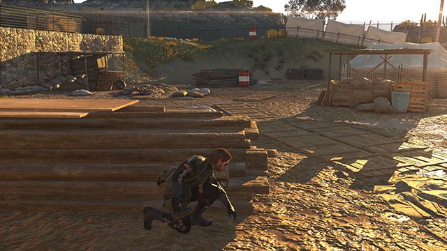「潛龍諜影 5: 原爆點 (Metal Gear Solid V:  Ground Zeroes)」- 畫面空間環境光遮蔽互動比較圖 #3