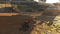 「潛龍諜影 5: 原爆點 (Metal Gear Solid V:  Ground Zeroes)」- 畫面空間環境光遮蔽範例 #3 - 高