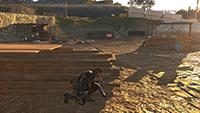 「潛龍諜影 5: 原爆點 (Metal Gear Solid V:  Ground Zeroes)」- 畫面空間環境光遮蔽範例 #3 - 關閉