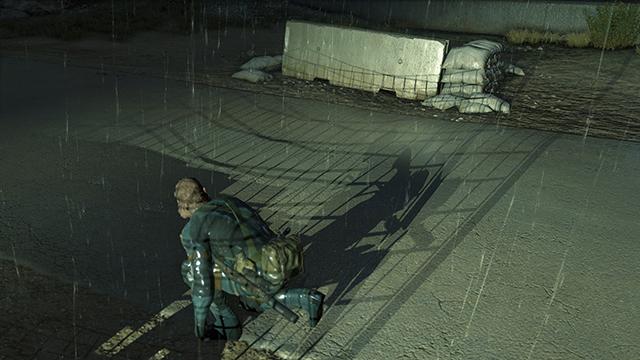 「潛龍諜影 5: 原爆點 (Metal Gear Solid V:  Ground Zeroes)」- 陰影品質比較圖 #2