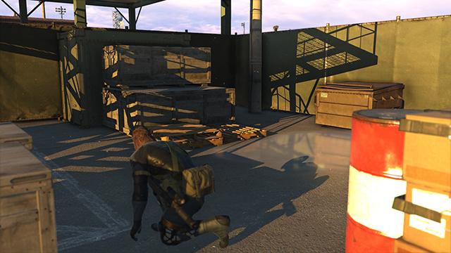 「潛龍諜影 5: 原爆點 (Metal Gear Solid V:  Ground Zeroes)」- 陰影品質比較圖 #3