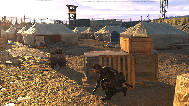 「潛龍諜影 5: 原爆點 (Metal Gear Solid V:  Ground Zeroes)」- 材質過濾互動比較圖 #1