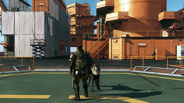 Metal Gear Solid V: The Phantom Pain - NVIDIA Control Panel HBAO+ Ambient Occlusion Comparison #1