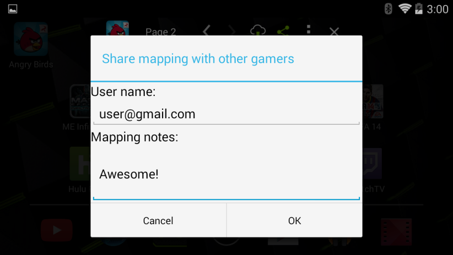 NVIDIA SHIELD Gamepad Mapper Share Mapping