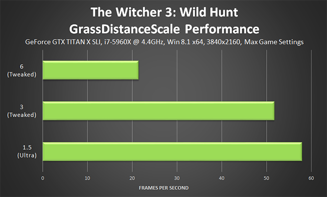 「巫师 3:狂猎 (The Witcher 3: Wild Hunt)」- GrassDistanceScale 调整项性能