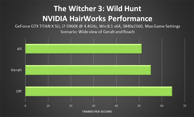 The Witcher 3: Wild Hunt - NVIDIA HairWorks Performance