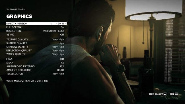 Max Payne 3 PC Graphics Options