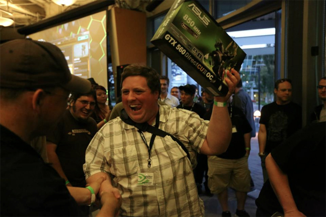 Team 2, the runners up, each received a GeForce GTX 560s.