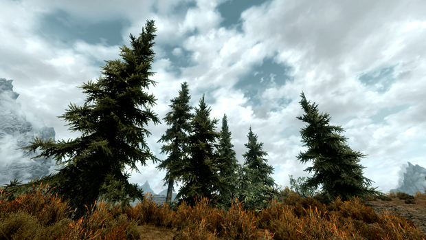 Skyrim-TreeSelfShadowing On