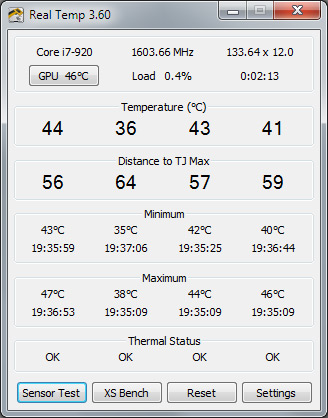 CPU temps vary a bit between the cores - this is normal
