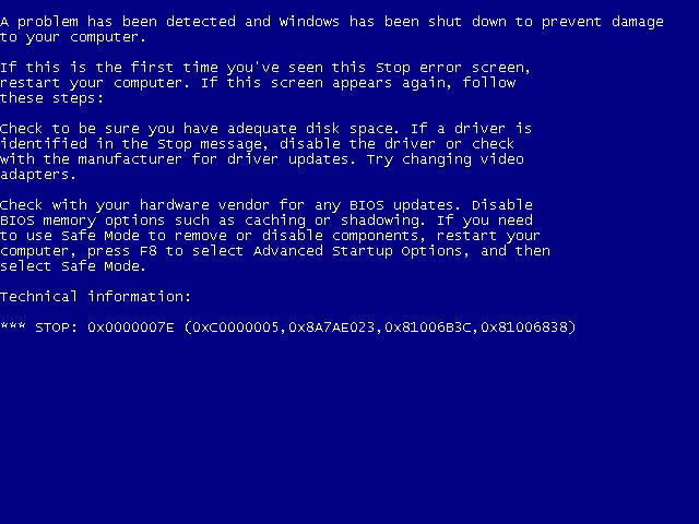 The Windows BSOD can be the hardware equivalent of the Grim Reaper