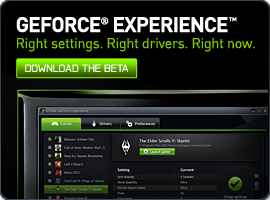 GeForce Experience: Right drivers. Right settings. Right now.