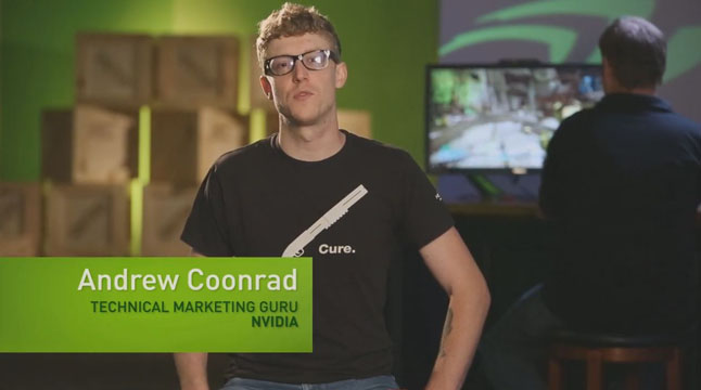 Andrew Coonrad, Technical Marketing Guru, introduces the GeForce GTX 650 and GTX 660.